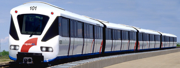 A 4-car Kelana Jaya Line Mark II train