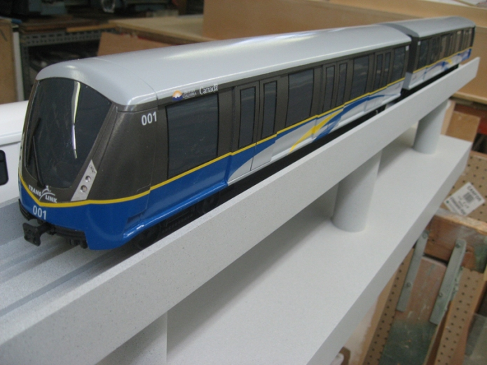 Pictures from TransLink of mockup Mark III Skytrain vehicle