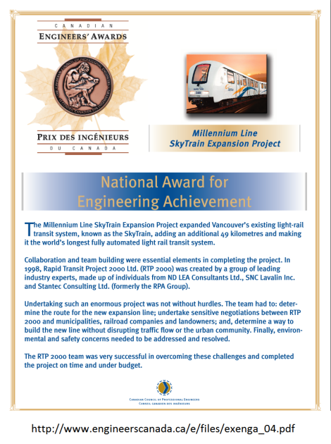Engineers Canada award with link