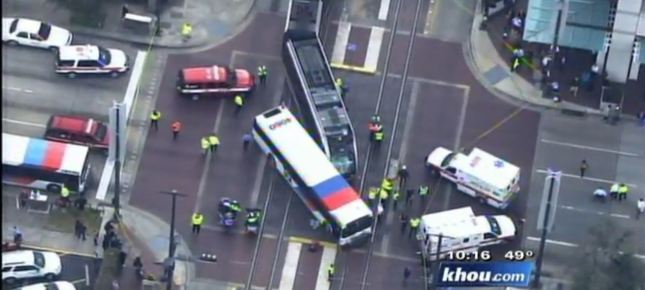 An LRT accident in Houston, Texas