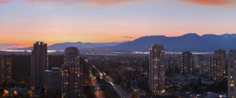 SkyTrain in Burnaby, looking towards Vancouver