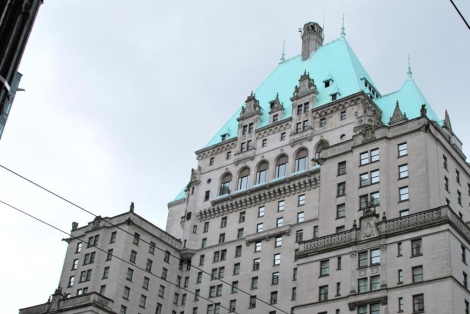 The Fairmont Hotel in Vancouver