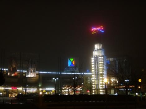 Metrotown at night
