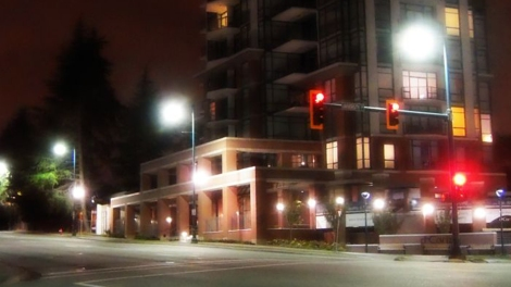 The streets are empty near Gateway Station during the after-hours. Photo: City of Surrey