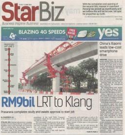 StarBiz - RM9bil LRT to Klang