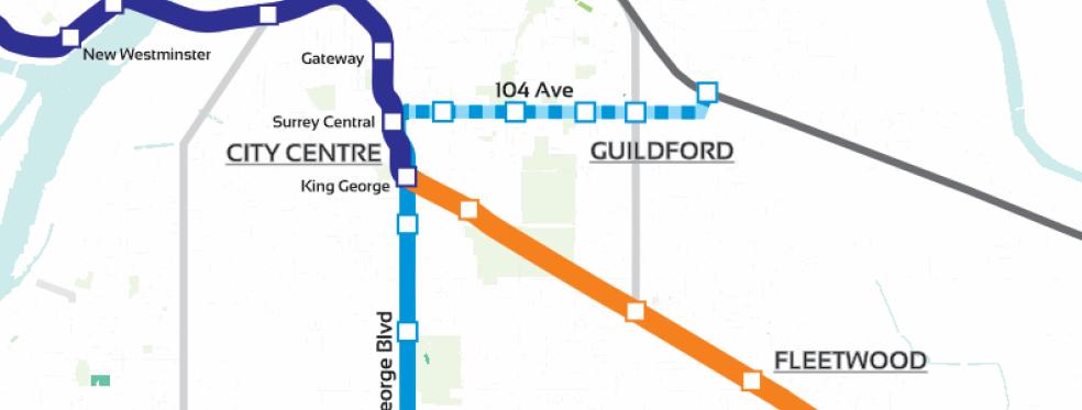 Surrey Rapid Transit Vision - Minimap