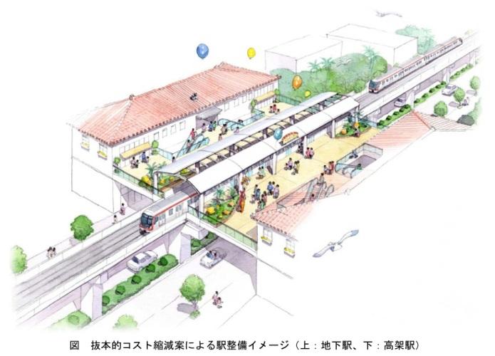 Okinawa Railway System - Urban elevated railway station concept