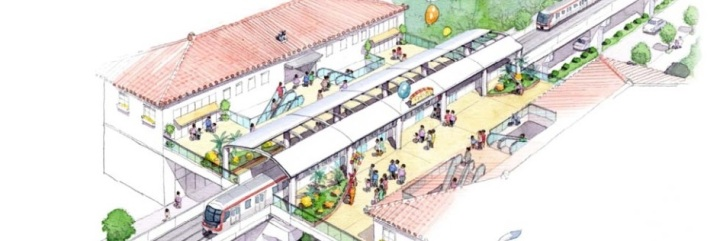 Okinawa Railway System - Urban elevated railway station concept